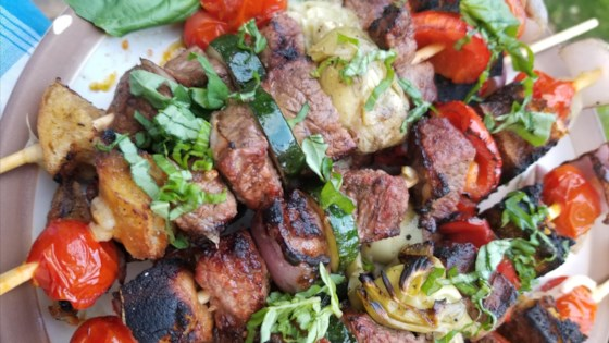 Photo of Grilled Panzanella Beef Kabobs by The Herbalist & The Carnivore