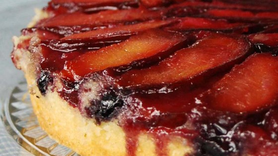 Photo of Plum Blueberry Upside Down Cake by BLONDINI2