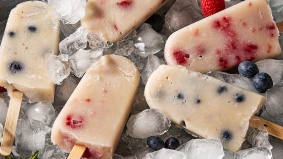 Photo of Vanilla Pops with Fresh Berries by Almond Breeze