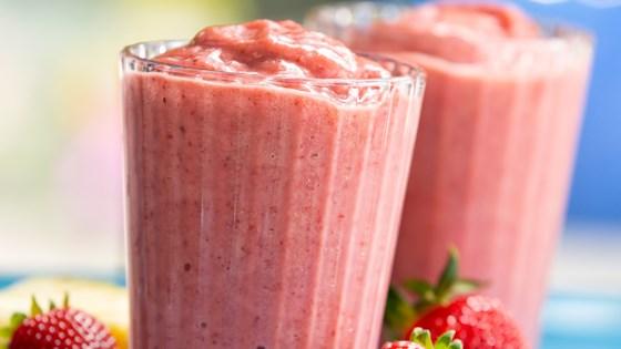 Photo of Strawberry Banana Breeze Smoothie by Almond Breeze