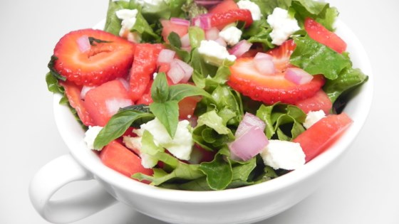 Photo of Sweet and Peppery Watermelon Salad by Elma