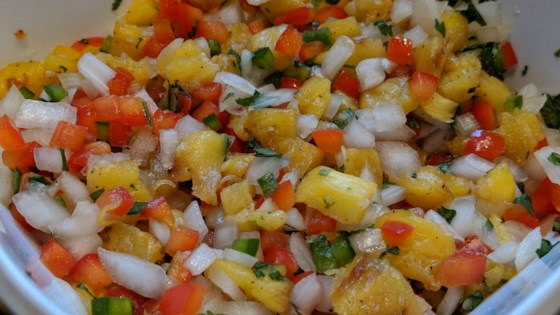 Photo of Grilled Pineapple Salsa by Elaine