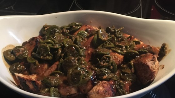 Photo of Creamy Chicken and Fiddleheads by Lana