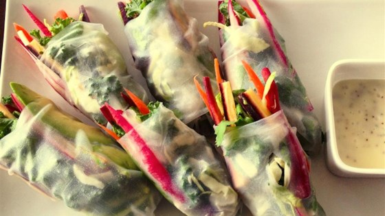 Photo of Rice Paper Veggie Wraps by CoachJen