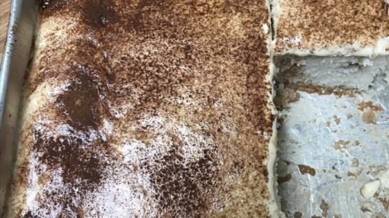 Photo of Tiramisu Poke Cake by Julie Hubert