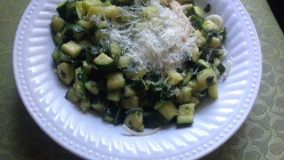 Photo of Quick Vegetarian Pasta with Zucchini and Yellow Squash by veggiefit