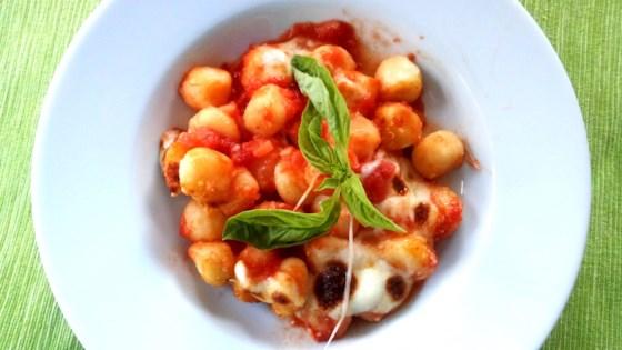 Photo of Gnocchi with Tomato Sauce and Mozzarella by saretta