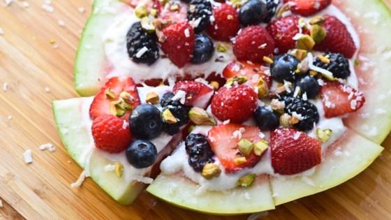 Photo of Loaded Yogurt Watermelon Pizza by Katherine Martinelli