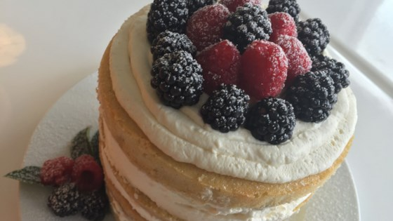 Photo of Naked Vanilla Cake with Mascarpone and Berries by Fioa