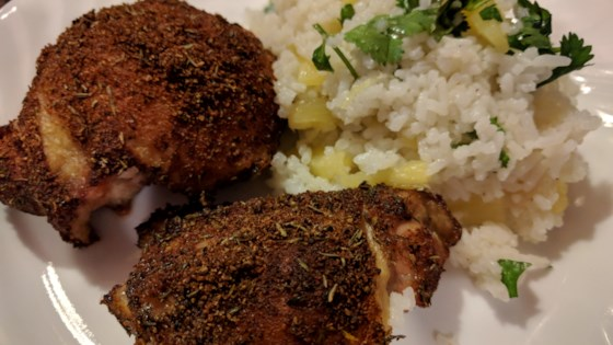 Photo of Caribbean Chicken with Pineapple-Cilantro Rice by KyleeJo06