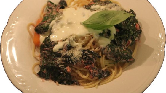 Photo of Three-Cheese Pasta with Greens by Chef AidF