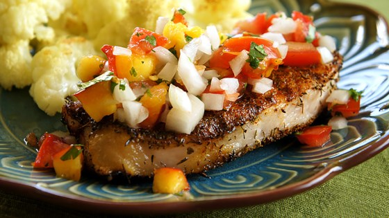 Photo of Grilled Pork Chops with Fresh Nectarine Salsa by MICHELLE0011