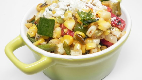 Photo of Corn with Roasted Chiles, Creme Fraiche, Cotija Cheese by Nesto