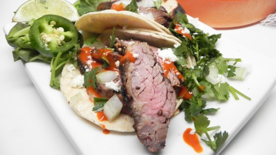 Photo of Grilled Skirt Steak Tacos by Guinevere