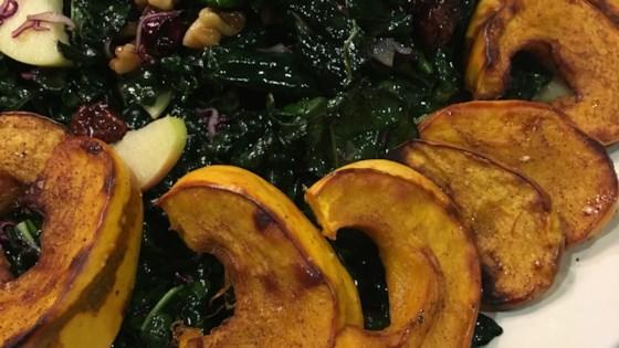 Photo of Festive Kale and Delicata Squash Salad by Rita