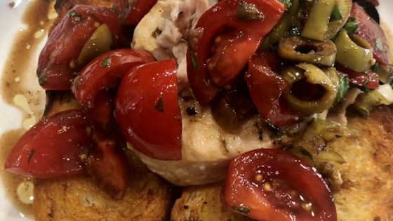 Photo of Chef John's Grilled Swordfish Bruschetta  by Chef John