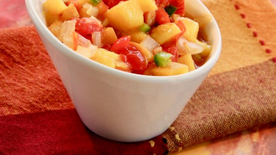 Photo of Easy Peach Salsa by clyrehc