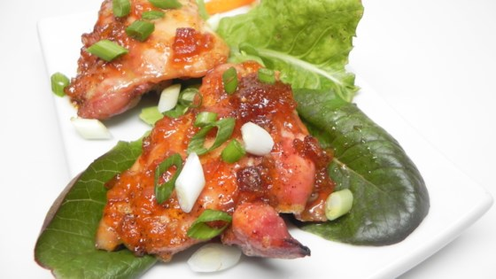 Photo of Glazed Apricot Chicken Thighs by mayoung22