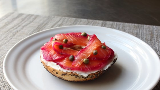 Photo of Beet-Cured Salmon Gravlax by Chef John