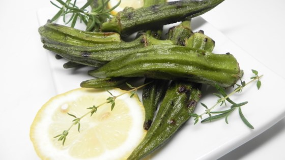 Photo of Lemony Grilled Okra by Di