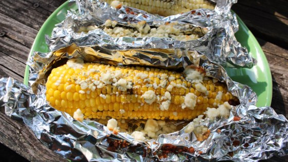 Photo of Oven-Roasted Corn on the Cob with Blue Cheese by Chef Mo