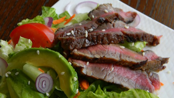 Photo of Grilled Steak Salad with Asian Dressing by Joanne Zalapski Samchyk