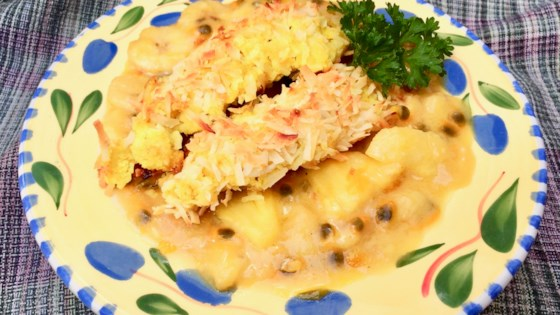 Photo of Baked Coconut Chicken Fingers with Passion Fruit Sauce by Bibi