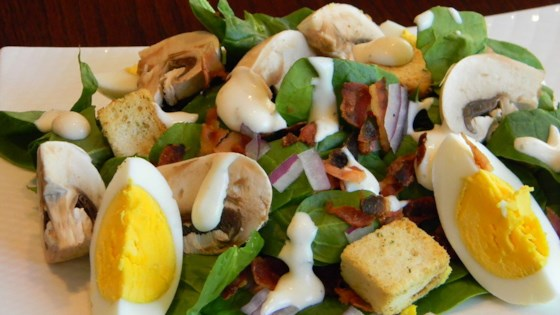 Photo of Spinach, Bacon, and Mushroom Salad by Dana