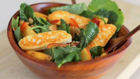 Photo of Spinach, Nectarine, and Halloumi Salad by SunnyDaysNora
