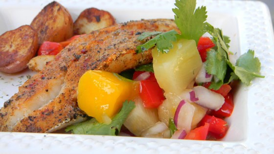 Photo of Paprika-Spiced Grilled Cod and Party-in-Your-Mouth Mango Salsa! by Persian Spice Elevator