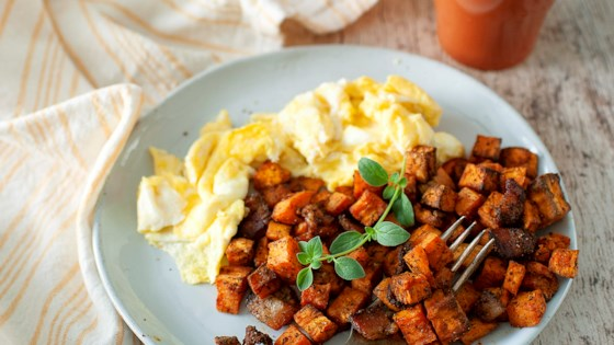 Photo of Air Fryer Sweet Potato Hash by Angela Sackett | Superhotmama