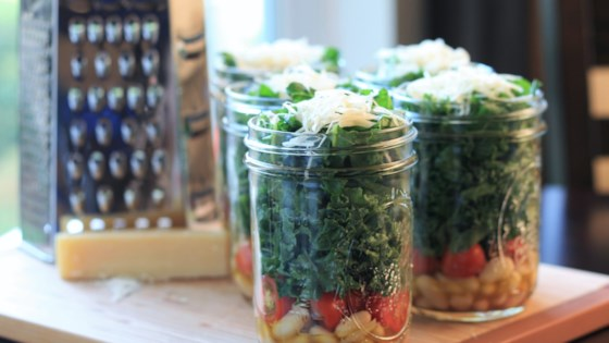 Photo of Kale and Cannellini Bean Salad in a Jar by France C