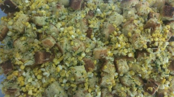 Photo of Corn and Challah Stuffing with Fried Sage by foodwinefashion