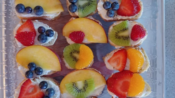 Photo of Goat Cheese Crostini with Honey and Fruit by Linda F. Bergfeld
