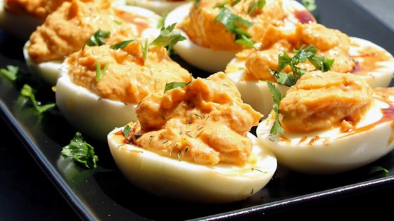 Photo of Harissa Deviled Eggs by thedailygourmet