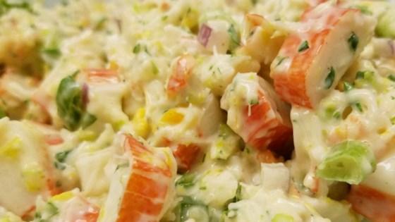 imitation crabmeat mayonnaise with Asian baked