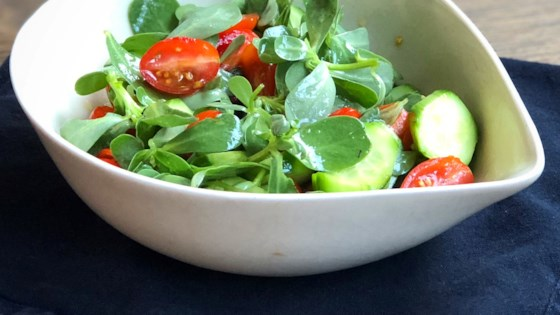 Photo of Purslane, Cherry Tomato, and Cucumber Salad by Diana Moutsopoulos