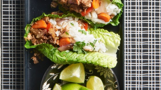 Photo of Asian Pork Lettuce Wraps with Coconut-Lime Rice by Allrecipes Allstars