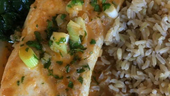 Photo of Fish Filet in Thai Coconut Curry Sauce by barbara