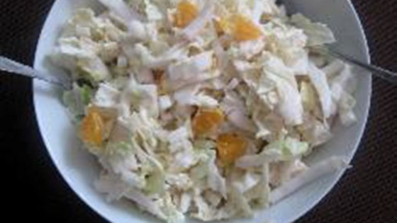 Photo of Napa Cabbage Salad with Mandarin Oranges and Apple by Nora