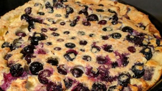 Photo of Paleo Blueberry Cast Iron Pancake by Cindy Anschutz Barbieri
