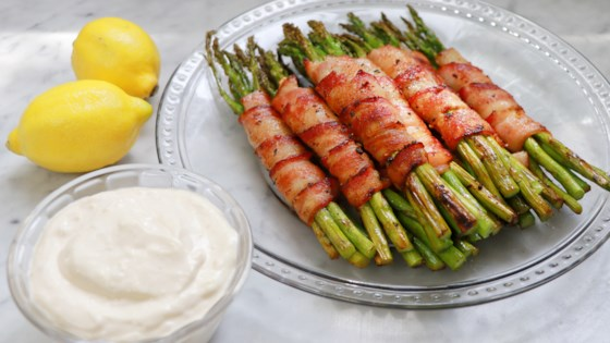 Photo of Keto Bacon-Wrapped Asparagus with Lemon Aioli by fabeverydayblog