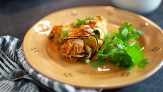 Photo of Low-Carb Zucchini Enchiladas by Angela Sackett | Superhotmama