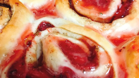 Photo of Strawberry Cinnamon Rolls by thedailygourmet