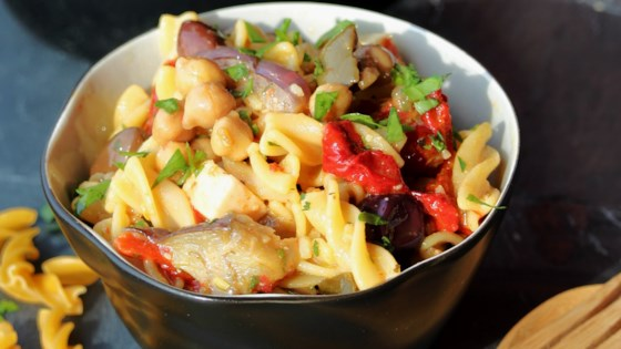 Photo of Chickpea-on-Chickpea Pasta Salad by Buckwheat Queen