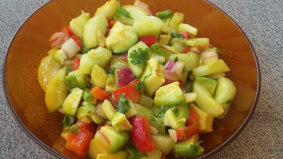 Photo of Cool Cucumber and Avocado Salad by Barbara Kahian