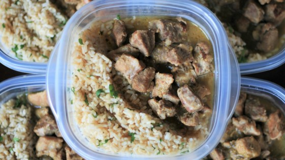 Photo of Pressure-Cooked Salsa Verde Pork and Rice by France C.