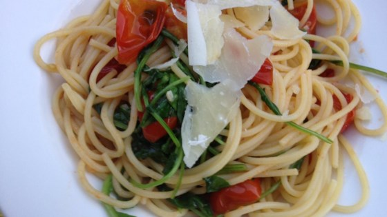 Photo of Pasta with Arugula and Tomatoes by ChristyM
