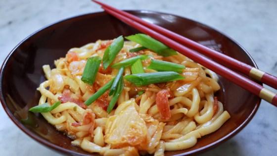 Photo of Kimchi Udon Noodle Stir-Fry by chpmnk42