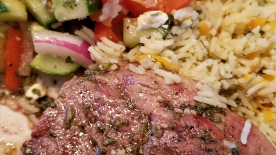 Photo of Grilled Lamb Shoulder Steaks by Cheryl can
